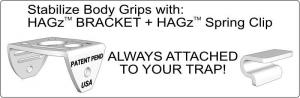 HAGz Bracket and HAGz Spring Clip (sold separately)