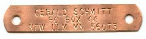Copper Trap Tags - Double Hole